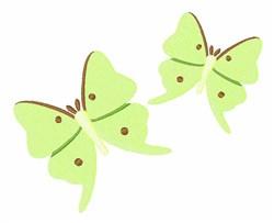 Green Butterflies embroidery design