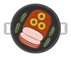 Ham Dinner embroidery design