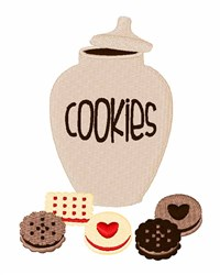 Jar Of Cookies embroidery design