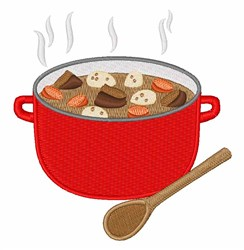 Stew Dinner embroidery design