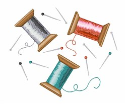 Sewing Thread embroidery design