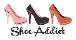 Shoe Addict embroidery design