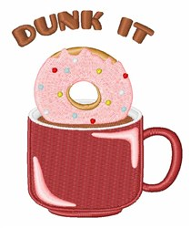 Dunk It embroidery design