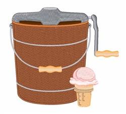 Ice Cream Maker embroidery design