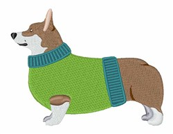 Corgi Dog embroidery design