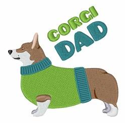 Corgi Dad embroidery design
