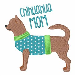 Chihuahua Mom embroidery design