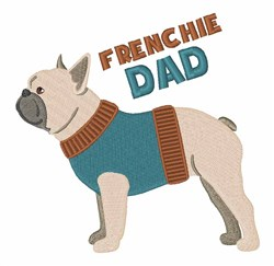 Frenchie Dad embroidery design