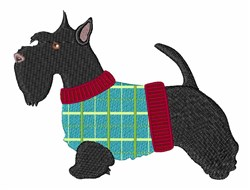Scottie embroidery design