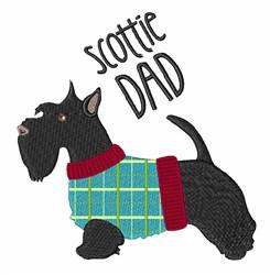 Scottie Dad embroidery design