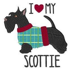 Love Scottie embroidery design