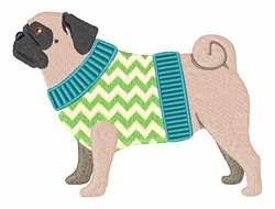 Pug Dog embroidery design