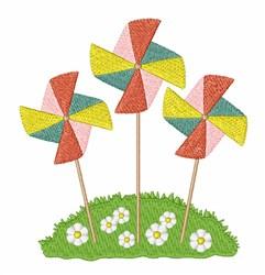 Pinwheels embroidery design