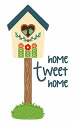 Tweet Home embroidery design