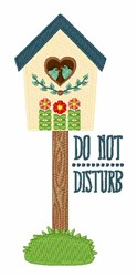 Do Not Disturb embroidery design