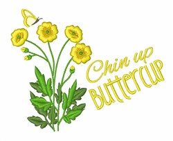 Chin Up Buttercup embroidery design
