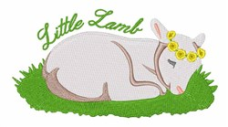 Little Lamb embroidery design