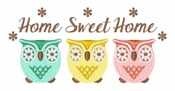 Owl Sweet Home embroidery design