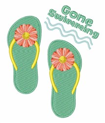 Gone Swimming embroidery design