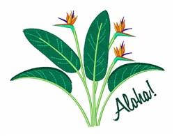 Aloha Flowers embroidery design