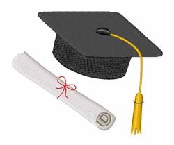 Graduation embroidery design