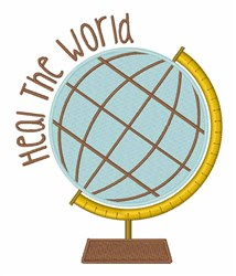 Heal The World embroidery design