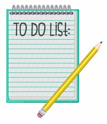 To Do List embroidery design