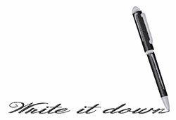Write It Down embroidery design