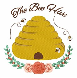 The Bee Hive embroidery design