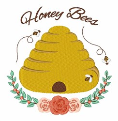 Honey Bees embroidery design