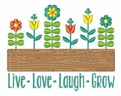 Grow Flowers embroidery design