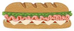 Sub Sandwich  embroidery design