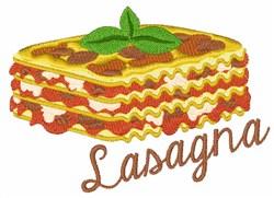 Lasagna embroidery design