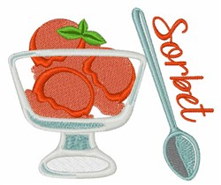 Sorbet Dessert embroidery design