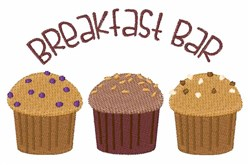 Breakfast Bar embroidery design