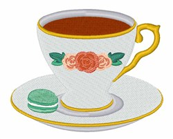 Tea & Macaroon embroidery design