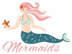 Mermaids embroidery design
