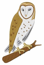 Owl On Tree embroidery design