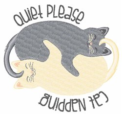 Cat Napping embroidery design