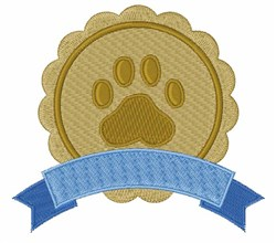 Pet Paw Banner embroidery design