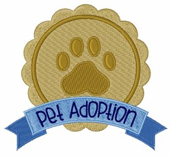 Pet Adoption embroidery design