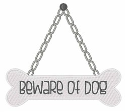 Beware of Dog embroidery design
