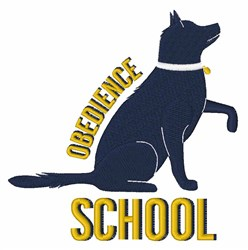 Obedience School embroidery design