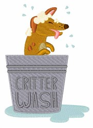 Critter Wash embroidery design