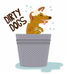 Dirty Dogs embroidery design