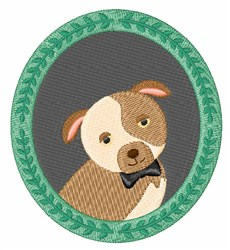 Framed Dog embroidery design