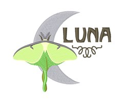 Luna Moon Moth embroidery design