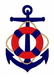 Nautical Anchor embroidery design