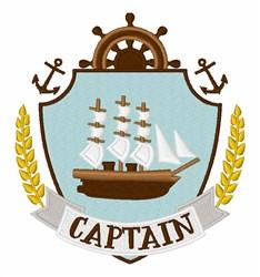 Captain Crest embroidery design