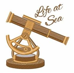 Life At Sea Telescope embroidery design